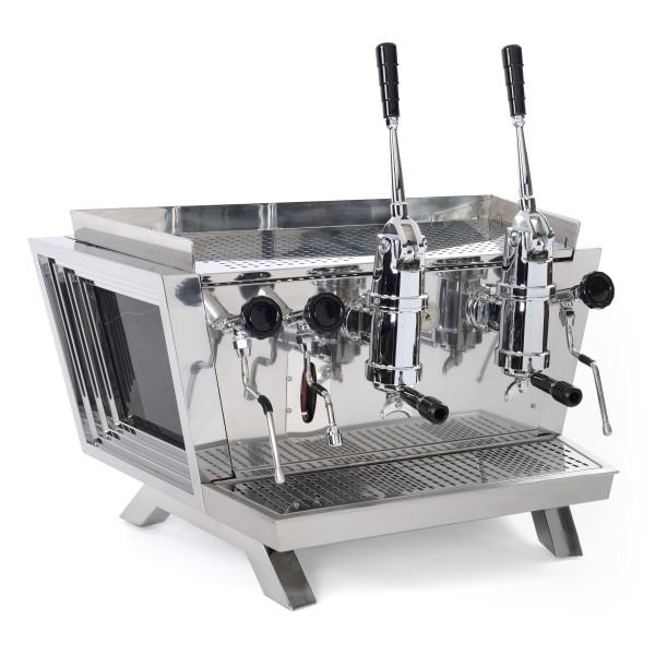 Espressomaschine Bazzar Mata Hari 2gr. Hebel Edelstahl